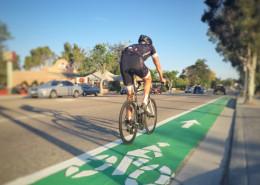 Bicycle in Bike Lane on Santa Rosa St