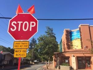 bike safety stop sign